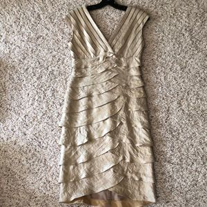 Adrianna Papell Champagne Cocktail Dress